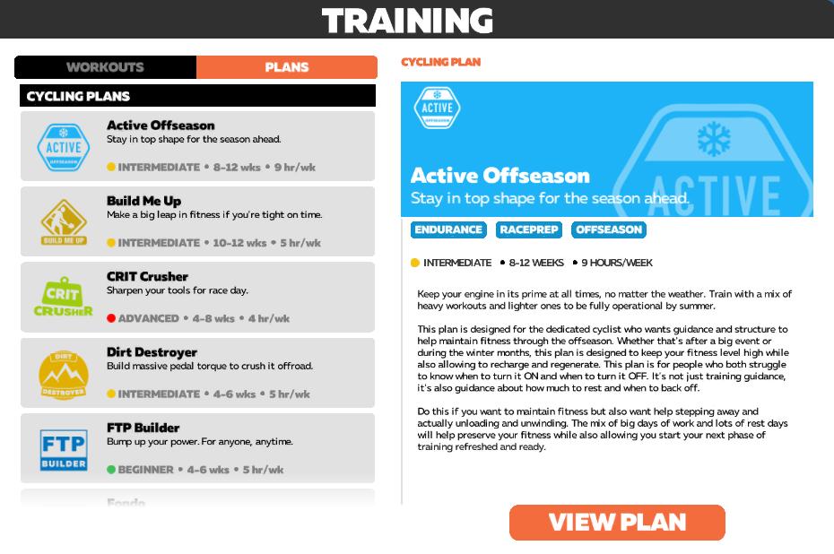 planes de entrenamiento zwift