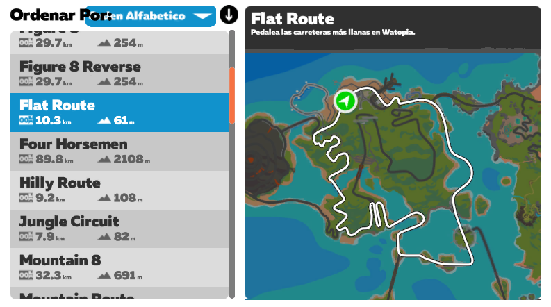 ruta zwift Flat Route
