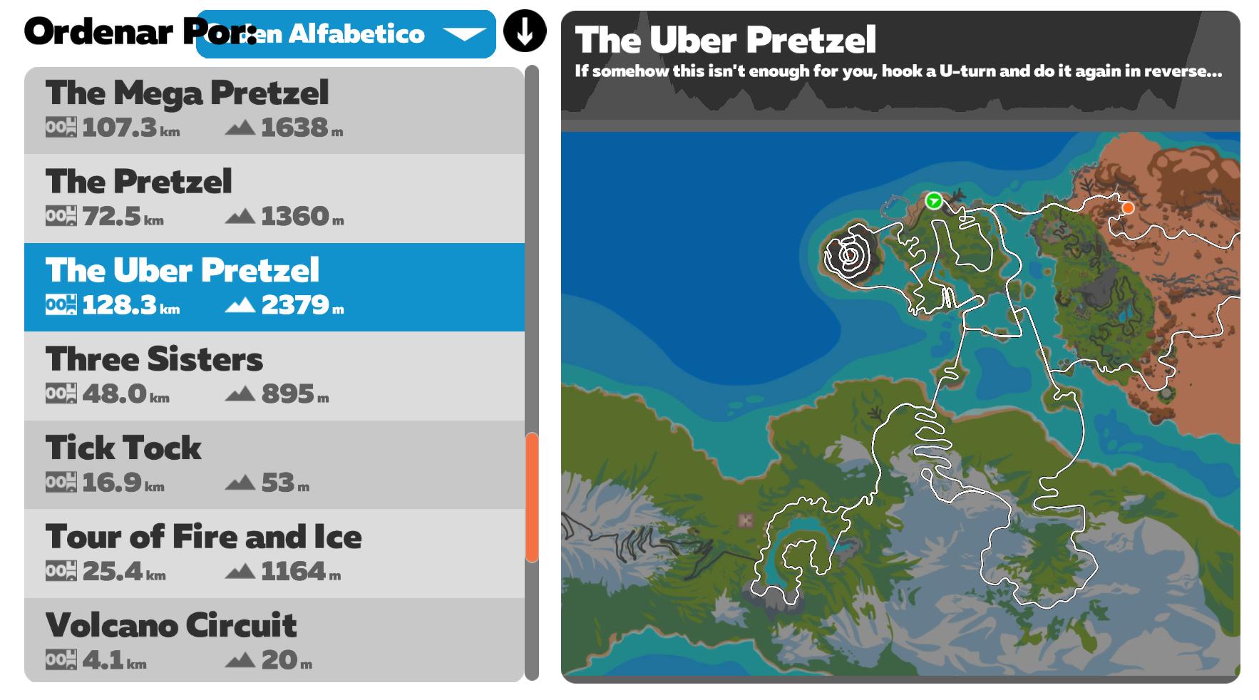 Ruta Zwift The Uber Pretzel