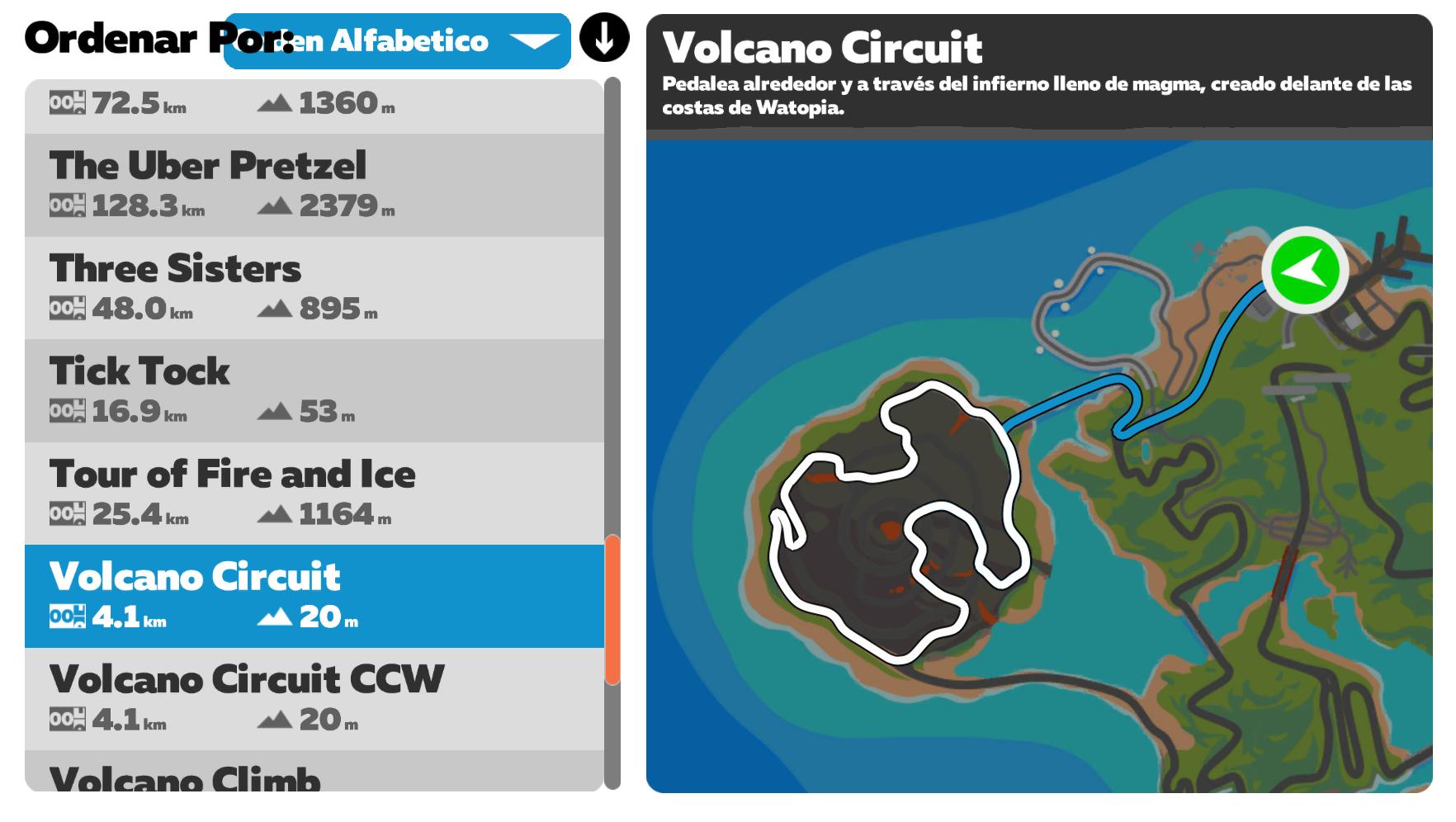 Ruta Zwift Volcano Circuit