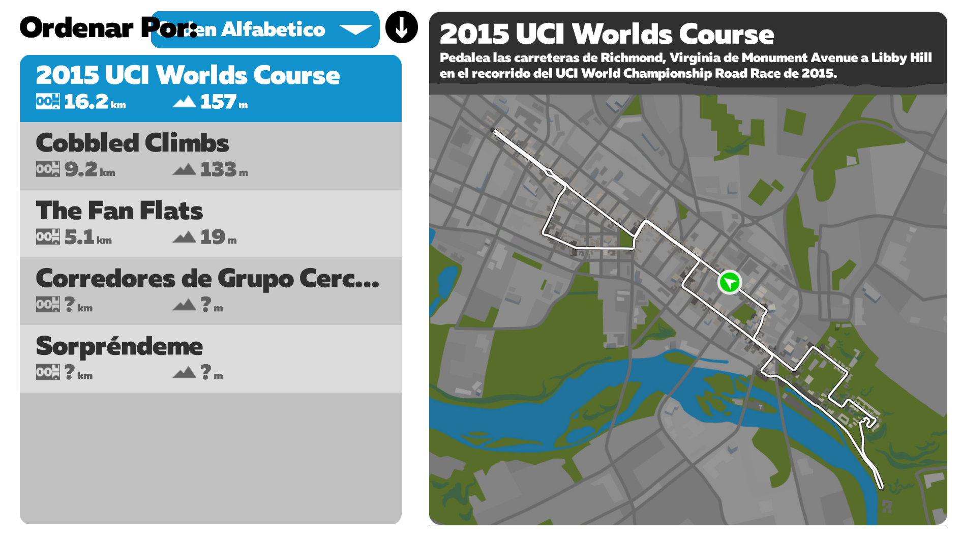 2015 UCI Worlds Course
