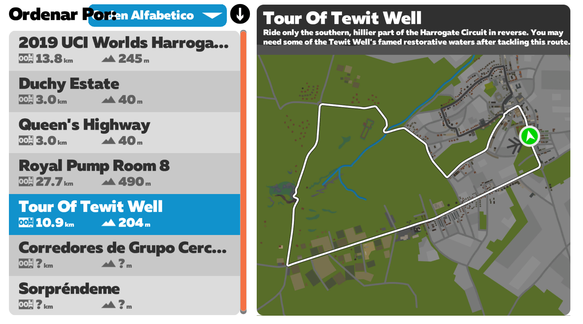 Rutas Zwift Tour of Tewit Well