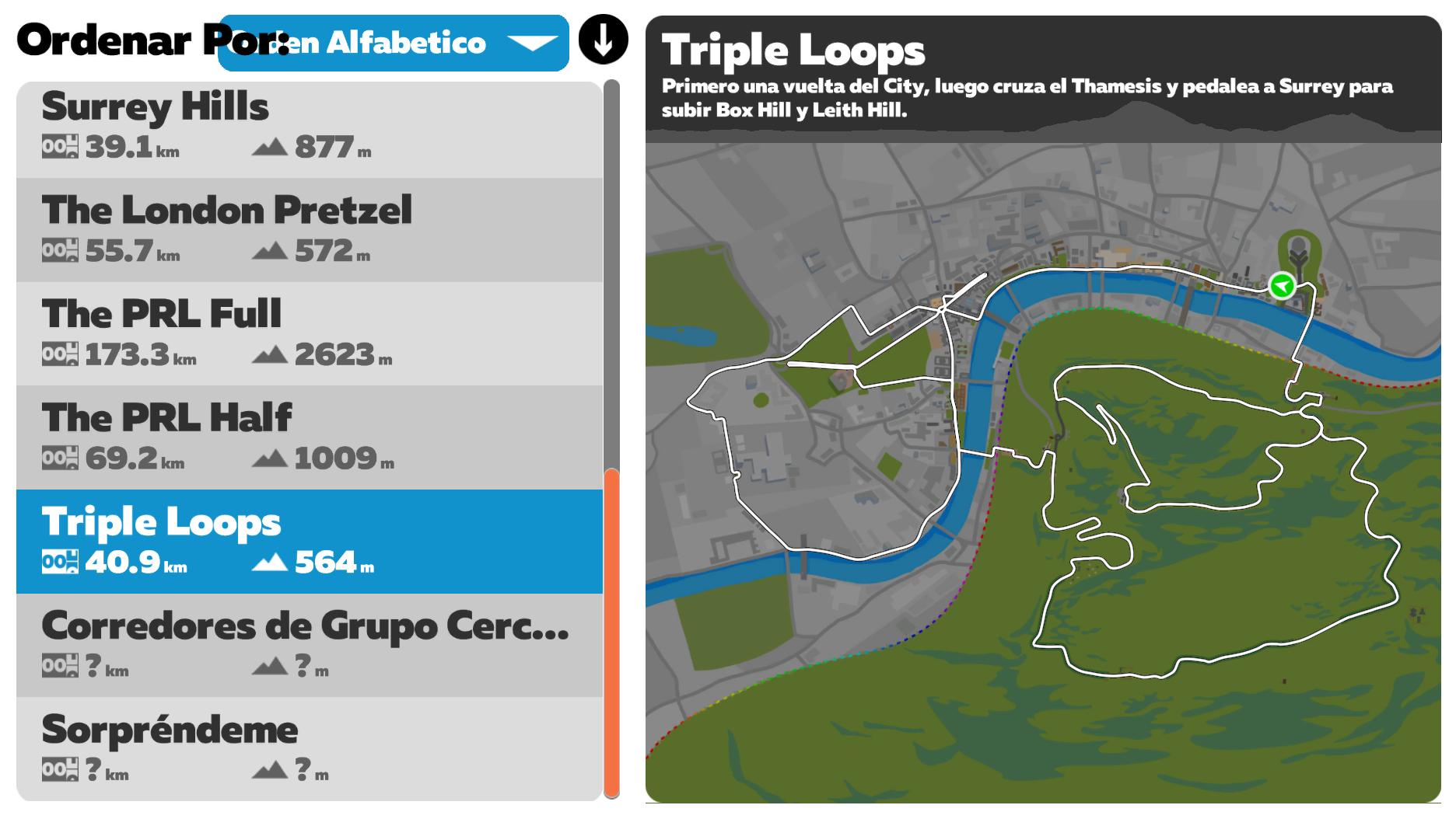 Ruta Zwift Triple Loops