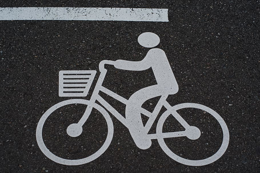 Carril bici asfalto