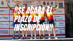 inscripción campeonato españa ciclismo master 2020